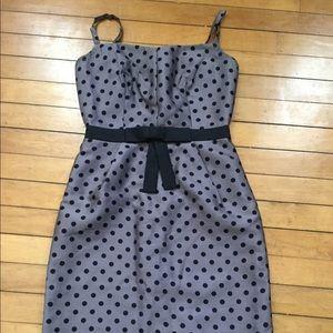 Milly New York Gray Polka Dot Sheath Dress 0 XS